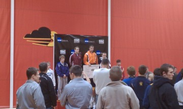 Awards ceremony at the conclusion of the conference meet.