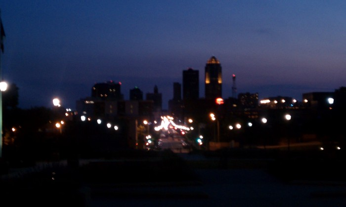 Downtown Des Moines at Sunset