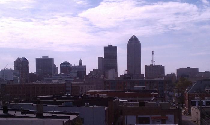 Des Moines skyline.