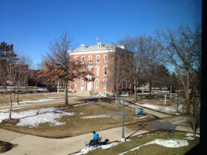 When the sun comes out, it always shine on Wartburg's Old Main.