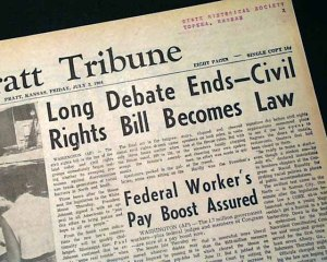 The Civil Rights bill got a lot people talking and taking sides 51 years ago this summer. What happened? People accepted it and moved on, whether they agreed with it or not.
