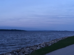 Mississippi River, facing north.