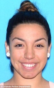 Stephannie Figueroa, 21, is charged with child abuse for texting nude photos to an 11-year old boy. (Orlando Sentinel)