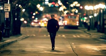 Man walking alone