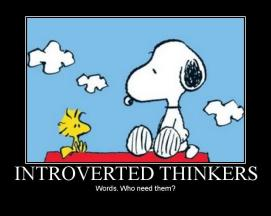 Snoopy Introverted thinkers